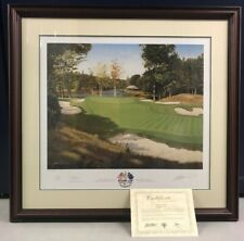 Graeme W Baxter Ryder Cup 99 The 3rd Green Limited Edition Signed Print 624/850