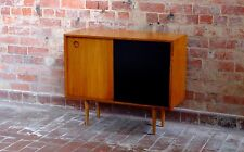 Teak Sideboard/ Record Cabinet 2-tone -  Retro Mid Century Eames Parker Style
