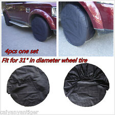 "4P Car Wheel Tire Tyre Covers Diameter To ≤31"" Tyre Black For SUV Pickup Trailer"
