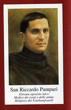 SANTINO  IMAGE PIEUSE - HOLY CARD- Heiligenbild - RICCARDO PAMPURI