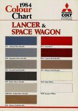 Mitsubishi Lancer & Space Wagon Exterior Colours 1984 UK Single Sheet Brochure