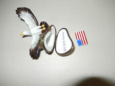 AUTHENTIC LIMOGES BOX soaring eagle god bless america limited 45 of 500 france