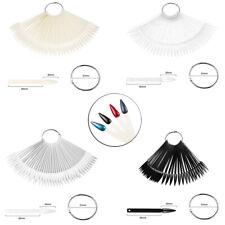 50PCS Nail Practice Tips Nail Color Display Fake Nails Salon Supply Fan-shaped