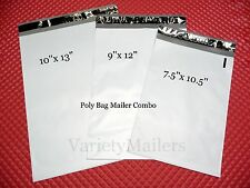 120 Poly Bag Mailing Envelope Variety 40 each x 3 Sizes ~ Self-Sealing Mailers