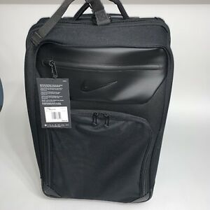NWT $240 Nike Departure Roller Carry On Black Travel Bag Expandable Suitcase