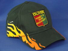 Oliver Finest In Farm Machinery - Tractor Hat - Dark Green Flame - Low Crown