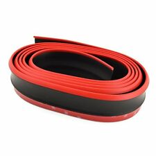 2.5 M Car Front Lip Bumper Carbon Fiber Strips Stickers Protection Red Black