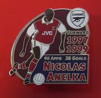 Danbury Mint Pin Badge Arsenal Football FC Club Nicolas Anelka Famous Footballer