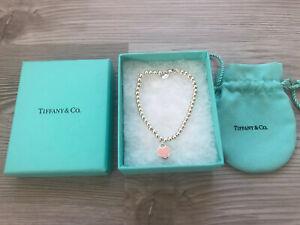 Return to Tiffany Armband Herz Kugelarmband Silber Rosa