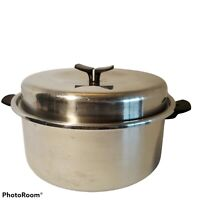 Vintage Thermo Care 6 Qt Stock Pot & Domed Lid 18-8 Tri Ply Stainless Steel
