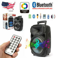 "8"" LED Portable Bluetooth Speaker with FM /USB/SD Slot/Karaoke/Remote control"