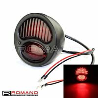 Motorcycle Retro LED Red Brake Stop Taillight For Harley Bobber Chopper Custom