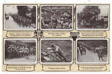 Military British Troops Multiview Vintage Postcard  30.9