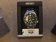 Seiko Verde cara Divers Watch pulsera de acero inoxidable y el caso