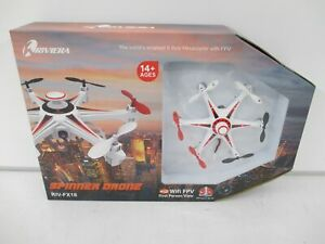 Riviera RIV-FX18 Riviera RC Spinner Wi-Fi Drone with 3D App, White