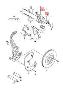 Genuine AUDI A4 Avant S4 Quattro Caliper Name Plate Repair Kit 8K0698221