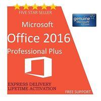 MICROSOFT OFFICE PROFESSIONAL PLUS 2016 32/64-BIT LICENSE KEY- Scrap PC