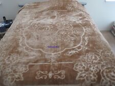 New! King Korean style Mink heavy weight blanket Tan Brown solid New 10 lbs