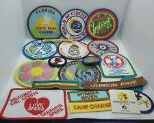 Lot of 19 Vintage Girl Scout Patches And 1 Pin 75 years 25 world conference
