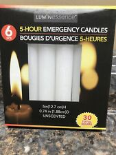Emergency 6 pack Candles 5 Hour burning Time, Camping, Power Outage - *New*
