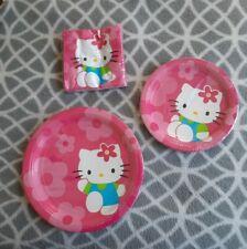 Hello kitty birthday party supplies plates napkins decorations