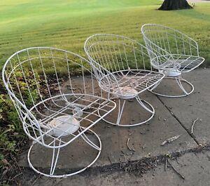 Homecrest barrel chairs MCM wrought iron