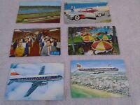Lot of 14 Old Vintage 50's & 60's Auto, Airlines and Hotel Postcards