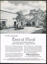 1959 Vintage Casa el Moral Arequipa Peru Home Realestate Previews Photo Print Ad