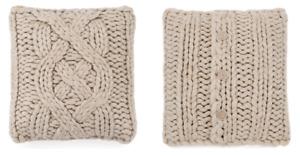 UGG Australia Oatmeal Oversized Wool Blend Knit Throw Pillow NEW Tags 20 x 20