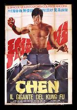 Chen il Gigante Del Kung Fu Liang Yung T Italian movie Poster (4F) Manifesto 70s