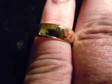 (WHY WEAR 10K,14K?) USA PLACER 22K SOLID GOLD BULLION SZ5-8 RING APM JEWELRY #3A