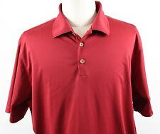 NEW Nike Golf Dri-Fit Stretch UV Tech Solid Polo Shirt MENS XL Red Polyester