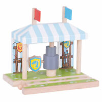 Bigjigs Rail Wooden Knights Train Grounded Medieval Railway Track Accessories