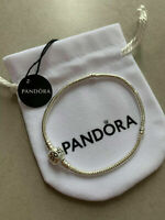 Genuine PANDORA Charm Bracelet - Sterling Silver S925 ALE NEW - 16cm-22cm