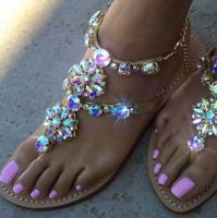 Sandals women summer beach 2017 Gladiator Rhinestone Sandals New Fashion shoes
