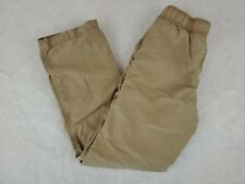 Gymboree Boys Pants Size 10 Jersey Lined Pull On Elastic Waist Drawstring Brown