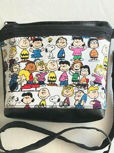 Charlie Brown Peanuts Gang Snoopy Handmade Vinyl Crossbody Purse Bag Handbag