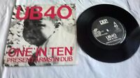 """One In Ten by UB 40 on 7"""" Vinyl in a Picture Sleeve"""