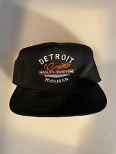 Harley-Davidson Mens Embroidered Detroit Genuine Cotton Cap, Black