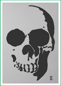 A4 A3 A5 Skull Pirate airbrush paint spray Reusuable stencil Premium mylar