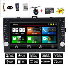 "6.2"" 2DIN Car Radio Stereo CD DVD Player GPS Navigation Auto Radio BT AUX SD US"