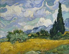 Cypresses by Vincent Van Gogh Giclee Fine Art Reproduction Canvas Print 26x20