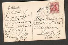 1907 post card Germany Berlin to Moleen 16 Woodcrest Ave White Plains NY