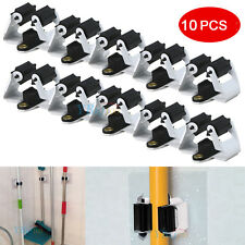 10 Pack Wall Mount Mop and Broom Holder Hanger Kitchen Cleaning Tools Organizer