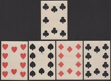 Old Antique CIVIL WAR ERA Square Corner Playing Cards Poker Hand 4 of a Kind 10s