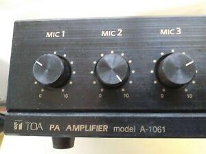 TOA  A-1061-UK 100 Volt 60W  Public Address Amplifier