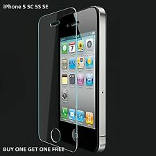 100% REAL TEMPERED GLASS FILM LCD SCREEN PROTECTOR FOR APPLE IPHONE SE 5S 5C 5