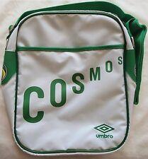 NEW YORK COSMOS Bianco Retro Messenger Bag by Umbro Nuovissimo Con Etichette