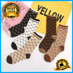 NEW Cotton G g Socks Design One Size Fits 100%NEW Ladies Breathable Socks