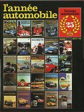 L'ANNÉE AUTOMOBILE 1977 - 1978 N° 25, EDITA S.A. LAUSANNE TRÈS BEAU
